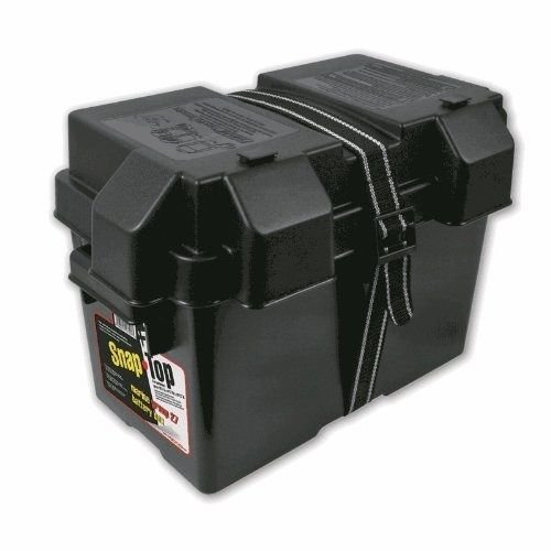 27 27m 27f Battery Box Snap Top With Strap Marine Plastic Group Boat Trailer Rv (27f Battery compare prices)