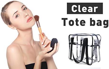 LOUISE MAELYS Travel Clear Makeup Handbag Large Toiletry Cosmetic Organizer Bag Waterproof