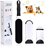 MyfatBOSS Pet Hair Remover Brush, Dog Cat Hair Remover with Self Cleaning Base, Efficient Double Sided Animal Fur Hair…
