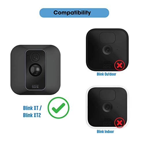 Silicone Skins w/Mount for Blink XT / XT2 Security Camera (2 pcs Black) - Silicone Case - Swivel Rotating Mounting Connector w/Blink XT2 Cover - NOT for 2020 New Blink Indoor/Outdoor Cam - by SULLY