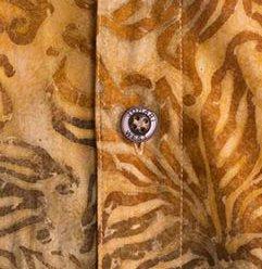 Johari West Autumn Gold Tropical Hawaiian Batik Shirt