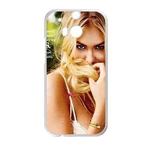 HTC One M8 Cell Phone Case White Kate Upton Magazine Shy Face Girl Art VIU136865