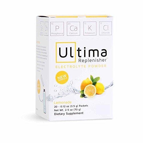 Ultima Replenisher New Formula Lemonade (20 Count Stickpacks) Net WT. 2.5 OZ by Ultima Replenisher
