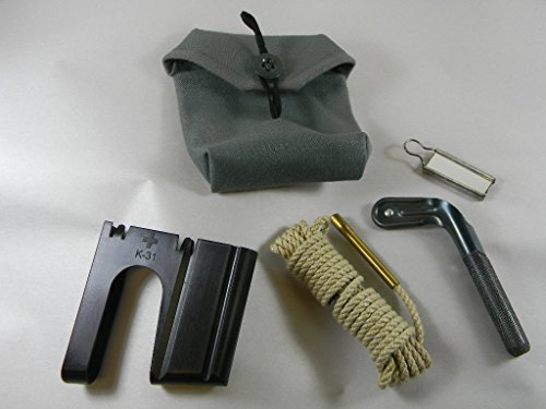 NEW ITEM! SWISS ARMY CLEANING SET FOR THE SWISS K-31 RIFLE AND 1 POLYMER LOADING CLIP. NORTHRIDGE INTERNATIONAL INC.