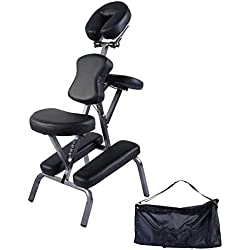 Giantex Portable Light Weight Massage Chair Travel Massage Tattoo Spa Chair w/Carrying Bag
