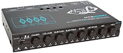 Lanzar HTG50EBT Heritage Series 4-Band EQ Parametric Equalizer with Subwoofer Gain Control and Bluetooth Wireless Audio Sound Around