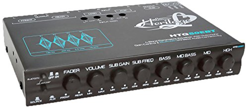 Lanzar HTG50EBT Heritage Series 4-Band EQ Parametric Equalizer with Subwoofer Gain Control and Bluetooth Wireless Audio - Eq Crossover