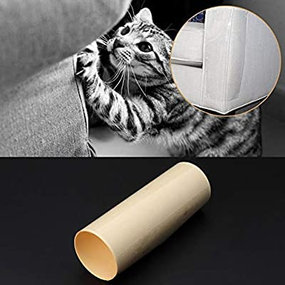 "Yong Cat Furniture Protector (Set of 4), Clear Self-Adhesive Pet Scratch Guard for Furniture,Sofa,Upholstery, Wall, Mattress, Car Seat, Door Protector Pad - (20"" L x 8"" W)"