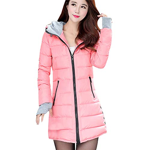 Laimeng_World Women Warm Outerwear with Gloves Ladies Cotton-Padded Jackets Hooded Coat with Pocket