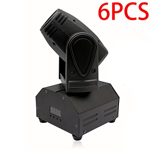 U`King LED Moving Head Light RGBW Beam Light with 10W for DJ Disco Club Party Dance Wedding by DMX Controller (6stage) by U`King