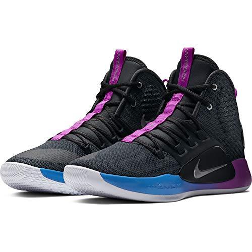 NIKE Men's Hyperdunk X Basketball Shoe Cool Grey/Team Red Size 10 M US ()