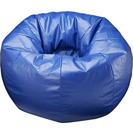 Admirable 132 Round Extra Large All Around Shiny Bean Bag Blue Spiritservingveterans Wood Chair Design Ideas Spiritservingveteransorg