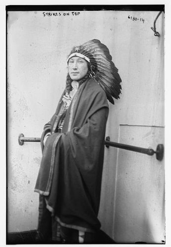 Photo: Strikes on Top,American Indian Chief,Native,tribal leaders,feather headdresses (Indian Chief Headdress For Sale)