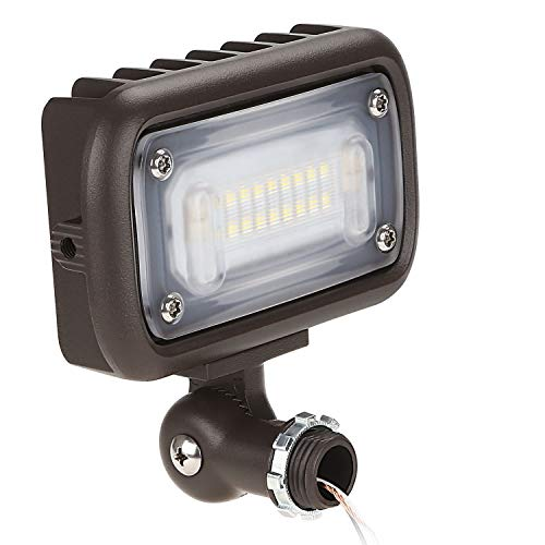15W Outdoor LED Flood Light, 100W MH Equivalent, 1/2″ Adjustable Knuckle Mount, 1600lm, 5000K Daylight, 120-277V, Waterproof Security Landscape Lighting, UL-listed, 5 YEAR WARRANTY For Sale