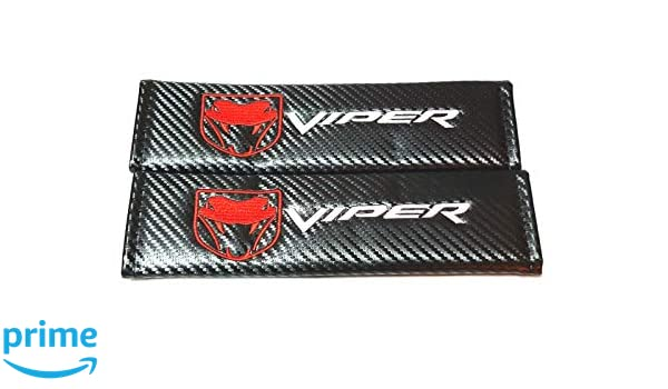 Vestian 2X Carbon Fiber Sport Viper Seat Belt Cover Shoulder Pad Cushion for Challenger Charger Racing