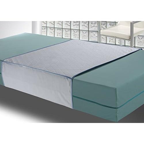 Gran durabilidad incluso en lavados frecuentes. 4 Capas, más capacidad de absorción Ajustable a la cama mediante alas laterales