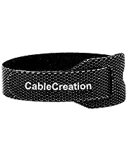 Cable Ties 6 inch, CableCreation 50PCS Reusable Fastening Organizer Cord/Tie Wrap, Nylon Adjustable Cable Management, 6 inch/Black… (black)