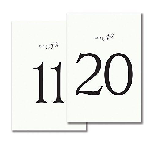 Vera Wang Tented Table Cards (11-20)