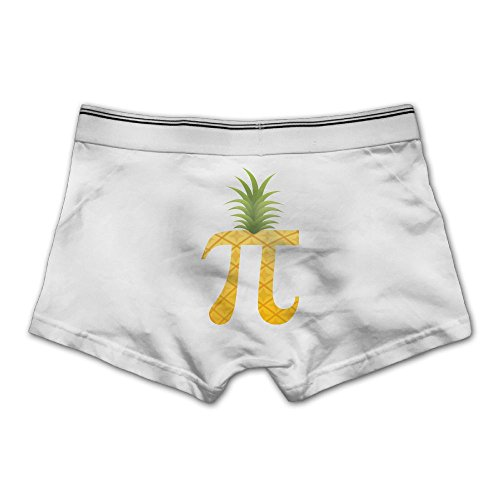 JingleBoo Pi Pineapple Men's Comfortable Panties XX-Large White
