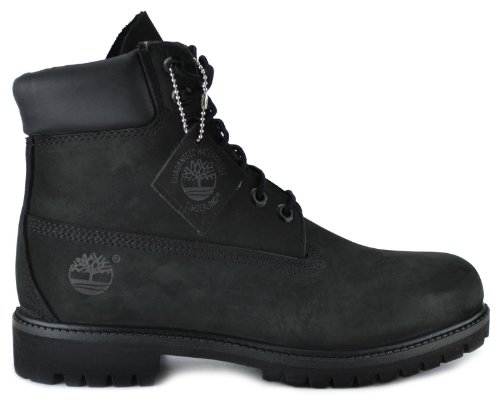Timberland Men's 6-Inch Basic Waterproof Boots Black 10073 - stylishcombatboots.com