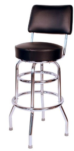 Amazon Com Richardson Seating 1958blk Double Ring Swivel Bar Stool