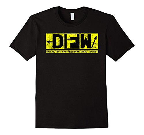 Mens DFW Dallas / Fort Worth Airport Vintage Taxiway Sign T-Shirt 3XL - Shops Airport Dfw