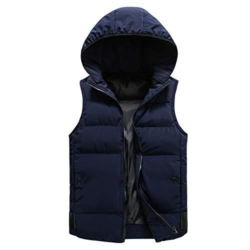Sumen Men Autumn Winter Coat Casual Hooded Quilted Warm Sleeveless Jacket Gilet