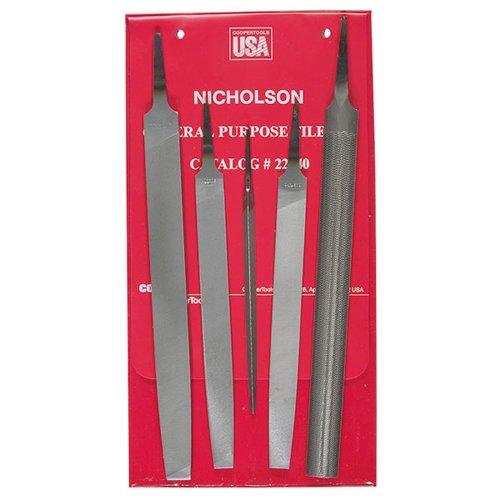 NICHOLSON 5 Piece General Purpose File Set - Cut Type: Length: 10