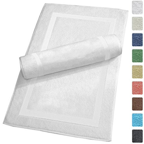 Cotton Reversible Towel - SALBAKOS Luxury Hotel and Spa 100% Turkish Cotton Banded Panel Bath Mat Set 900gsm! 20