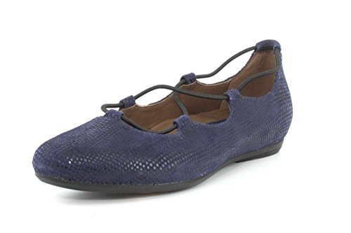 Earthies New Womens Essen Flat Navy Printed Suede 9.5