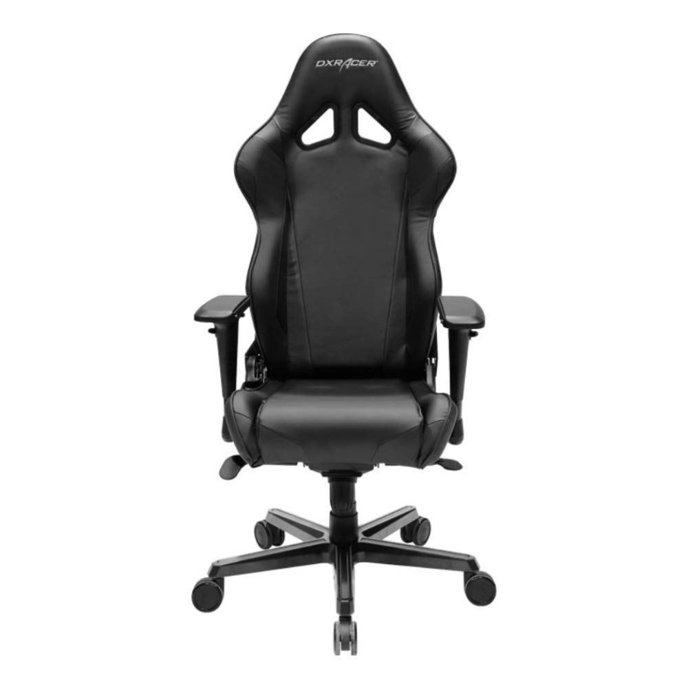 DXRacer OH/RV001/N Black Racing Series Gaming Chair Ergonomic High Backrest Office Computer Chair Esports Chair Swivel Tilt and Recline with Headrest and Lumbar Cushion + Warranty by DXRacer