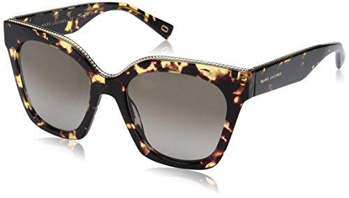 (Marc Jacobs Women's Marc162s Square Sunglasses, DARK HAVANA/BROWN GRADIENT, 52 mm)