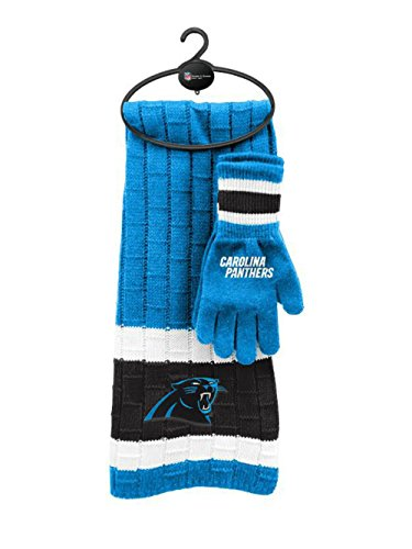 Carolina Panthers Authentic Scarf & Glove Set One Size OSFA - Team Colors -