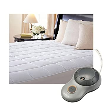 Full Size COMIN16JU011820 Sunbeam Premium Quilted Cotton Heated Electric Mattress Pad