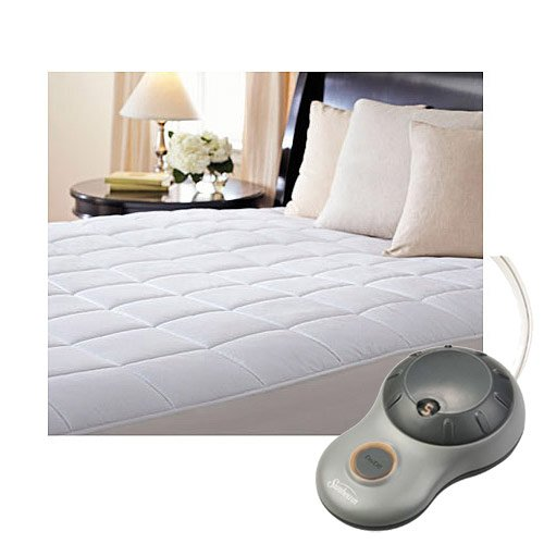 Sunbeam Premium Quilted Cotton Heated Electric Mattress Pad - Twin Size COMIN16JU004631