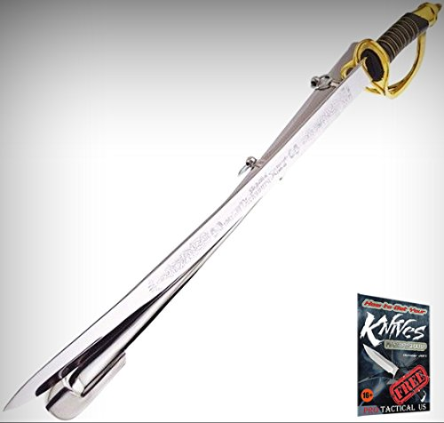 (Frost Cutlery F813BCV Chancellorsville Mirror Finish Civil War Sword W/18