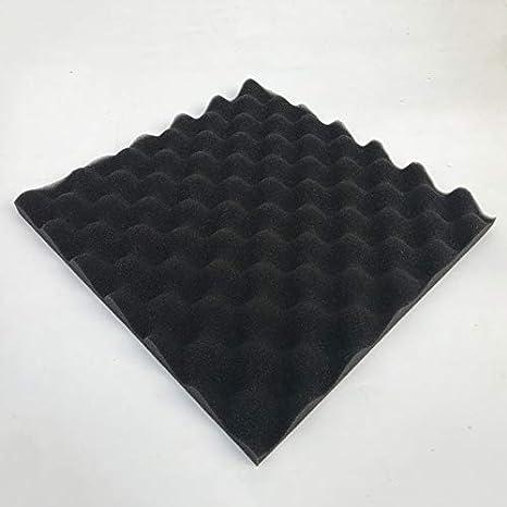 30x30cm Tratamiento de espuma acústica Sonda aislante Sonido de algodón con absorción de ruido Excelente aislamiento acústico - Negro: Amazon.es: Instrumentos musicales