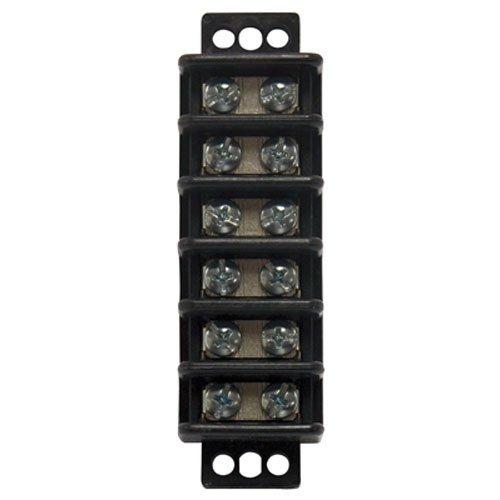 406 Small Block - Gardner Bender GTB-406 6Circuit Terminal Block, 1 Pack