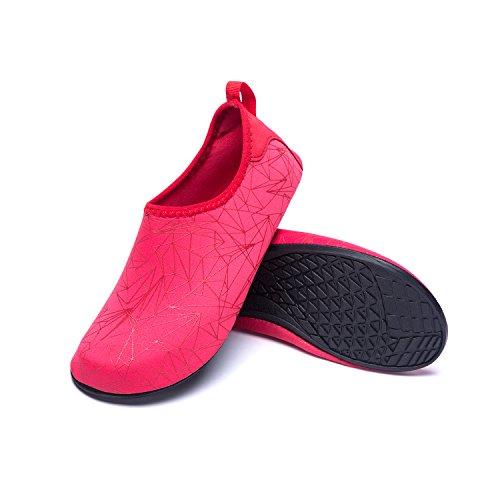 Soles de Rápido Unisex Agua Calzado Zapatos Color de LK Secado de LEKUNI Zapatos Zx Respirable Natación Agua de de red Playa Piscina v8wxB7w