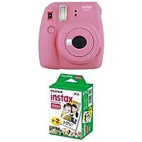 Fujifilm Instax Mini 9 Kamera flamingo rosa mit Film