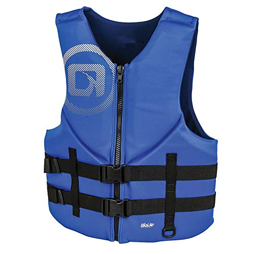 oldzon 青 メンズ トラディショナル バイオライト ボート ライフジャケットベスト 大人用 XL (2パック) 電子書籍付き