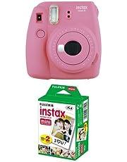 Fujifilm Instax Mini 9 Kamera, flamingo rosa mit Film