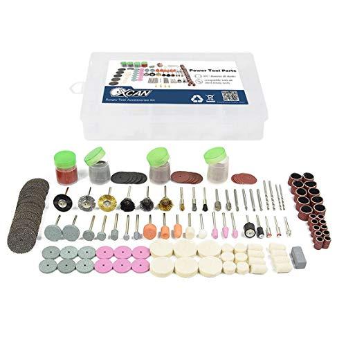 - 228pcs Rotary Power Cutting Disc Mandrels Drill Abrasive Stones Polishing Kit