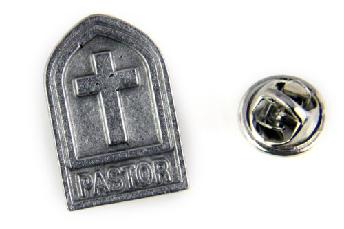 6030489 Pastor Lapel Pin Tie Tack Brooch Church Cross Christian Minister ()