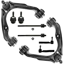 Detroit Axle- 8pc Front Upper Control Arms & Lower Ball Joints, Inner Outer Tie Rods Kit for 2003-2011 Ford Crown Victoria without Taxi/Police Suspension - [Town Car] - Grand Marquis -[03-04 Marauder]