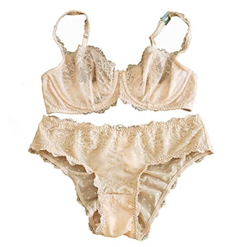 a483e5058fe1 Victorias Secrets Fantasies Nude Lace Unlined Demi Bra 32 D & Small Hiphugger  Set