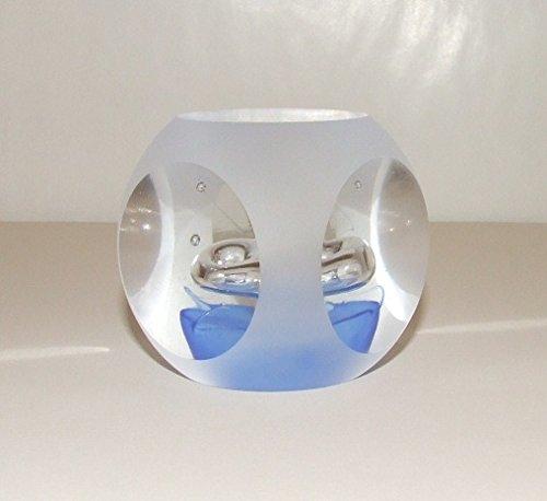 Murano Exklusivität Kristall Art Art Art & Déco Sulfide, Briefbeschwerer quadratisch blau B07BWV8WTS | München  56b516