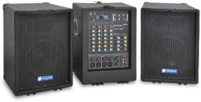 Skytec PA-100 Sistema PA portátil Mesa 4 Canales, USB MP3: Amazon ...