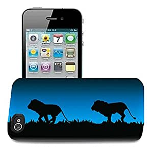 LZX Lion Pattern 3D Effect Case for iPhone5