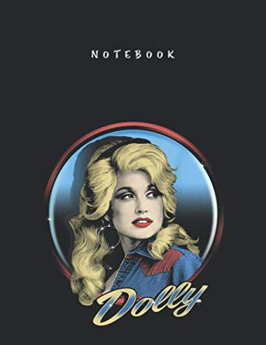 Notebook: Dolly Parton Western College Ruled Lined Notebook with Marble Size for Student Men and Women to Write and Take Note Large Size 8.5x11 inch